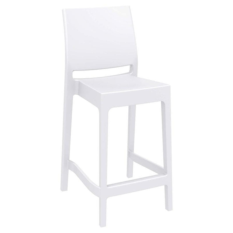 Spice Small Plastic Stacking Outdoor Barstool - Tables&Tops