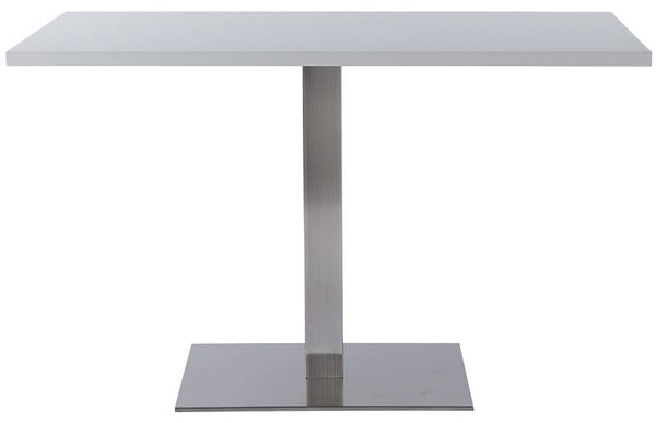 Danilo Rectangle Single Pedestal Stainless Steel Table Base - Tables&Tops