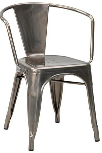 Tolix French Bistro Industrial Arm Chair - Tables&Tops