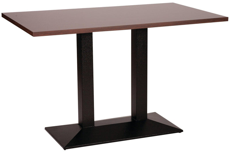 Pyramid Rectangular Twin Pedestal Cast Iron Table Base - Tables&Tops