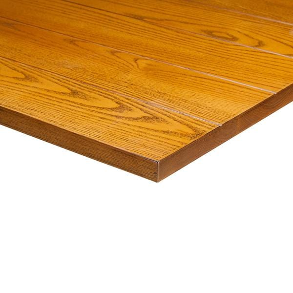 Slat Light Oak Solid Wood 25mm Table Top - Tables&Tops