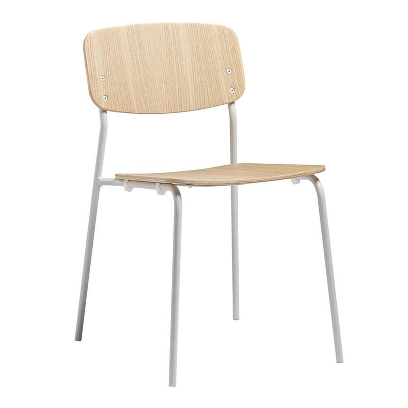 Vorsta Ash Industrial Stacking Side Chair - Tables&Tops