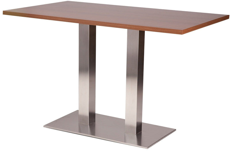 Danilo Rectangle Twin Pedestal Stainless Steel Table Base - Tables&Tops