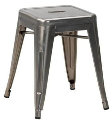 French Bistro Industrial Low Stool - Tables&Tops