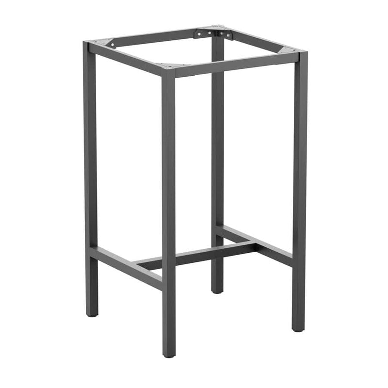 Paris Mid Four Leg Grey Aluminium Table Base - Tables&Tops