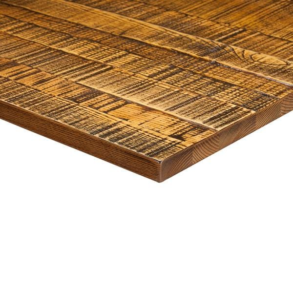 Jagged Light Oak Solid Wood 25mm Table Top - Tables&Tops