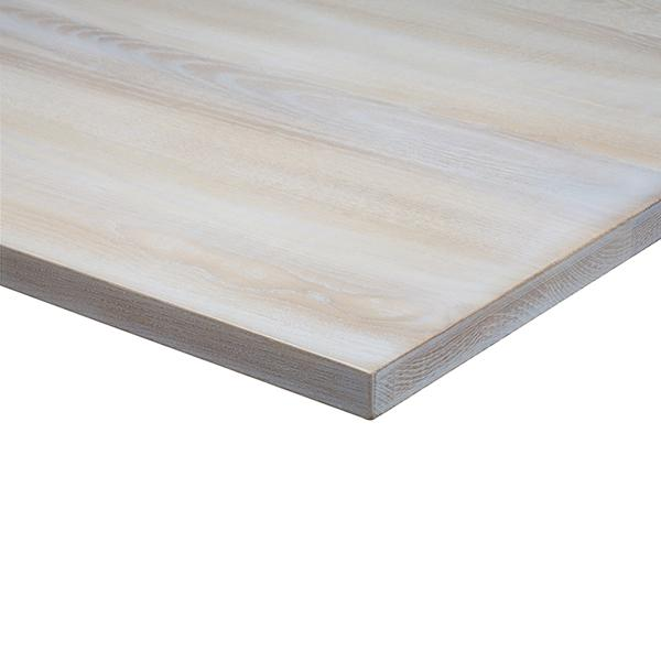 Lime Wash Light Oak Solid Wood 25mm Table Top - Tables&Tops