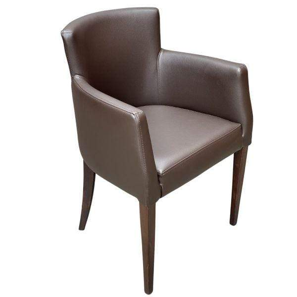Gamma Faux Leather Upholstered Carver Chair - Tables&Tops