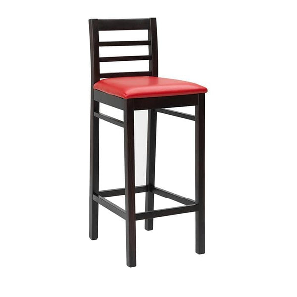 Castello Wooden Upholstered High Bar Stool - Tables&Tops