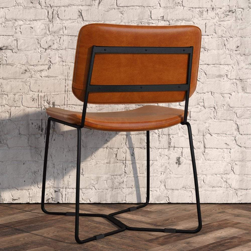 Pearl Upholstered Metal Side Chair - Tables&Tops