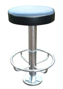 Denzel Chrome Floor Fixed Footrail Stool - Tables&Tops