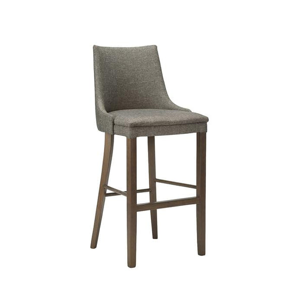 Cortana Plain Wooden Upholstered High Bar Stool - Tables&Tops