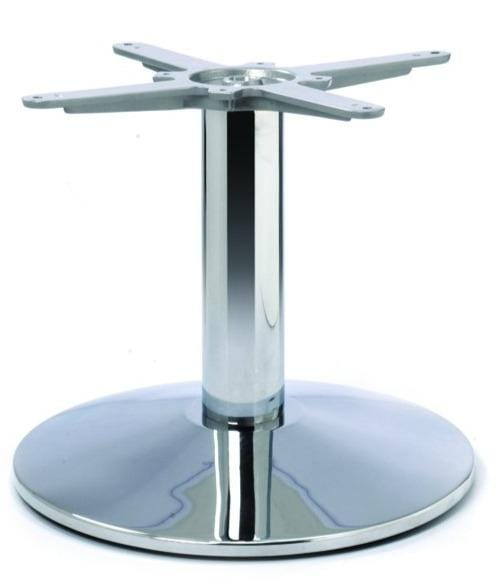 Dome Small Round Chrome Cast Iron Table Base - Tables&Tops