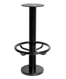 Denzel Black Cast Iron Floor Fixed Footrail Stool - Tables&Tops
