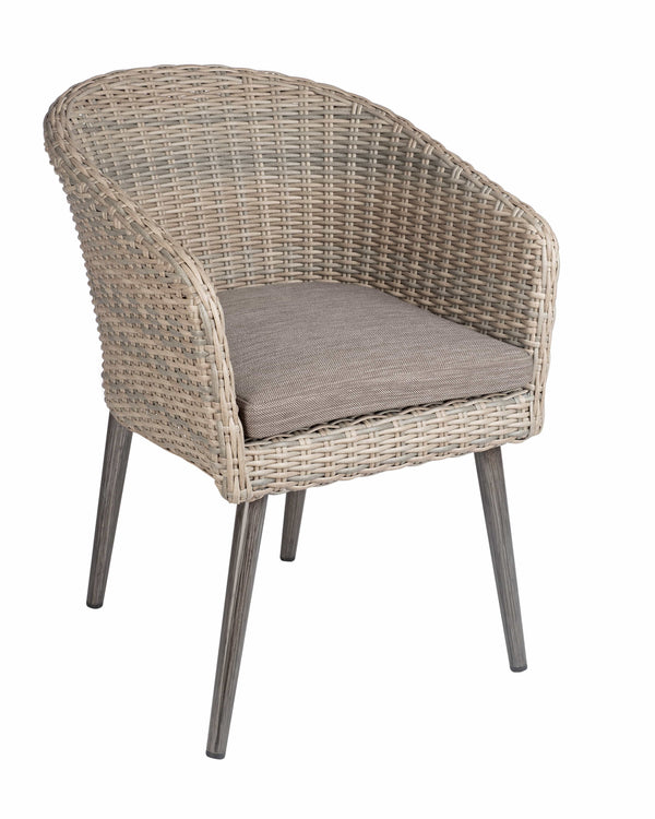 Hanover Outdoor Stacking Rattan Arm Chair - Tables&Tops