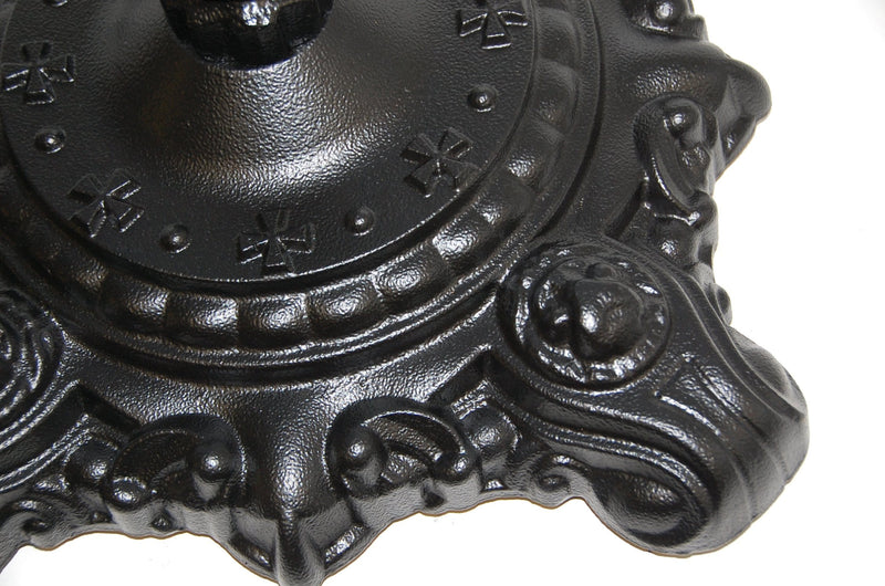 Hereford Ornate Bistro Black Cast Iron Table Base - Tables&Tops