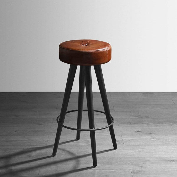 Malibu Upholstered Wooden Bar Stool - Tables&Tops