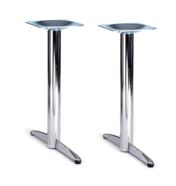 Lincoln Twin Pedestal Chrome Steel Table Base - Tables&Tops