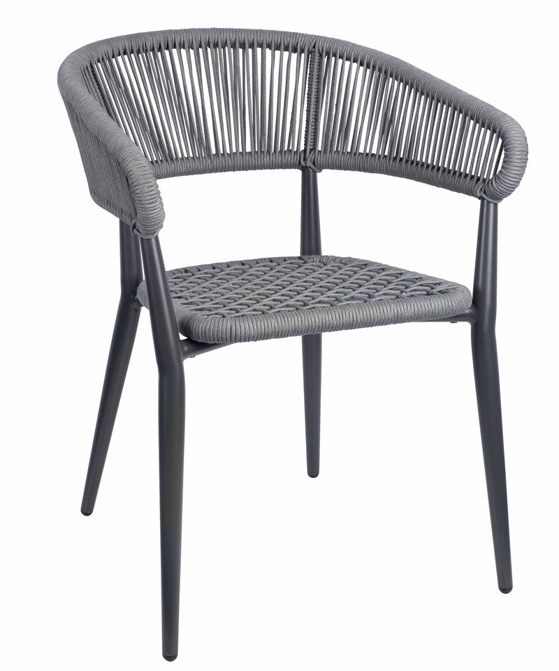 Madrid Outdoor Stacking Rattan Arm Chair - Tables&Tops