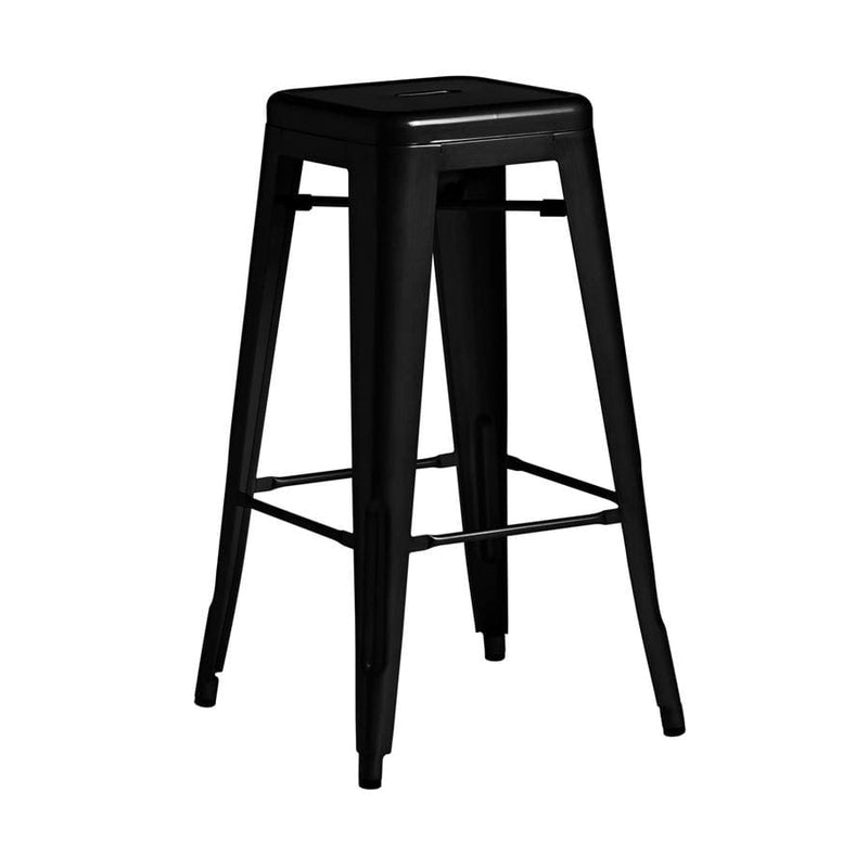Marcel French Bistro Industrial Low Bar Stool - Tables&Tops