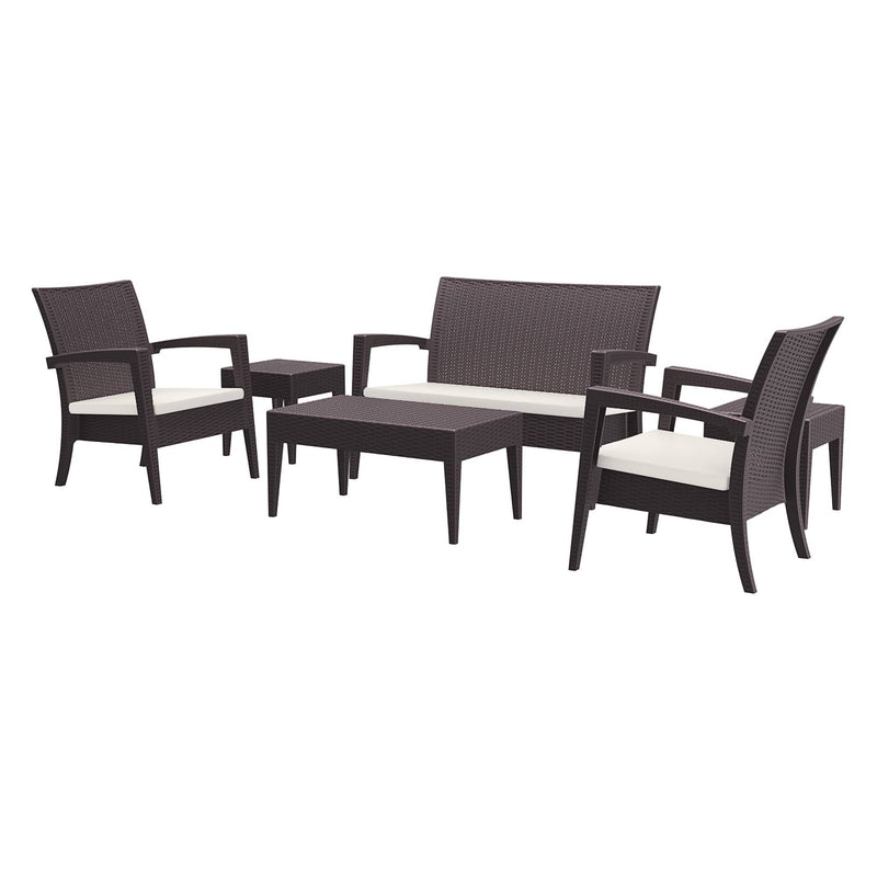 Miami Brown Outdoor Sofa Lounge Set - Tables&Tops