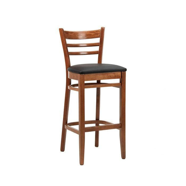 Nova Wooden Upholstered High Bar Stool - Tables&Tops