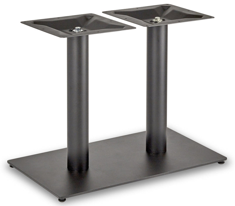 Profile Rectangle Twin Pedestal Cast Iron Table Base - Tables&Tops