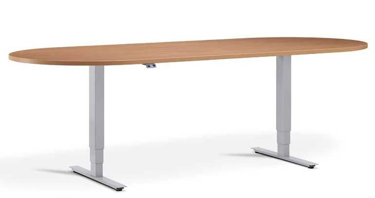 Advance Silver Meeting Table Height Adjustable Office Desk - Tables&Tops