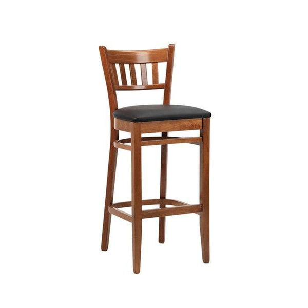 Vito Wooden Upholstered High Bar Stool - Tables&Tops