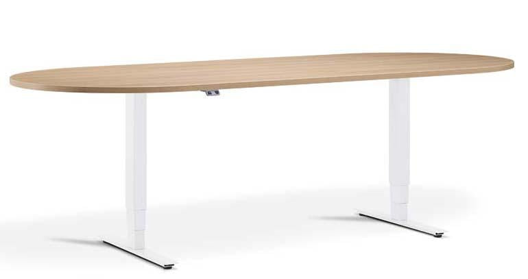 Advance White Meeting Table Height Adjustable Office Desk - Tables&Tops