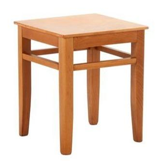 Cori Wooden Low Bar Stool - Tables&Tops