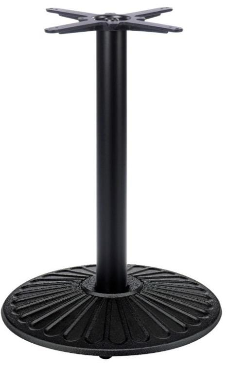 Crewe Round Black Cast Iron Table Base - Tables&Tops