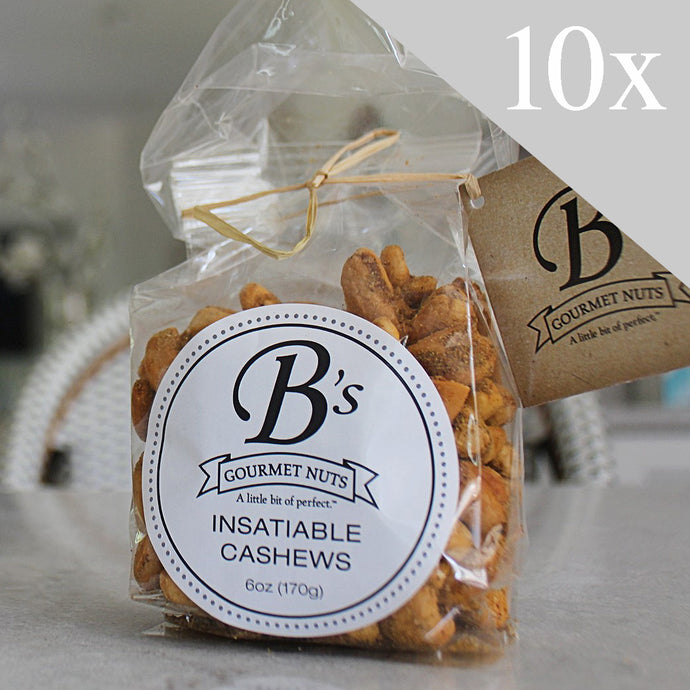 Insatiable Cashews Case (qty 10 / per case)