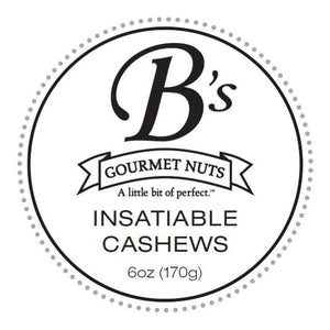 Insatiable Cashews - Single Bag (Rosemary with a hint of heat)