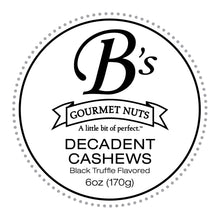 Load image into Gallery viewer, Decadent Cashews - Single Bag (Delicately flavored with Black Truffle)