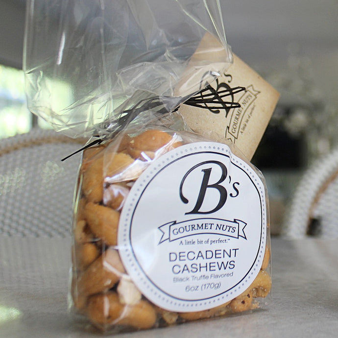Decadent Cashews - Single Bag (Delicately flavored with Black Truffle)