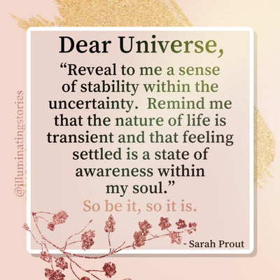 Dear Universe: What is Uncertainty Teaching Me?