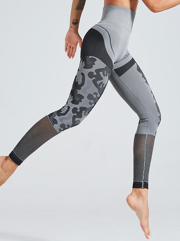 Elite Camo Seamless Leggings - Grey / S - Leggings
