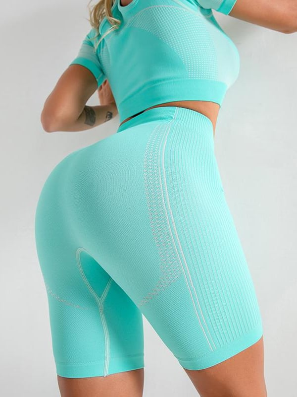 Flex Seamless Shorts - Turquoise / L - Shorts