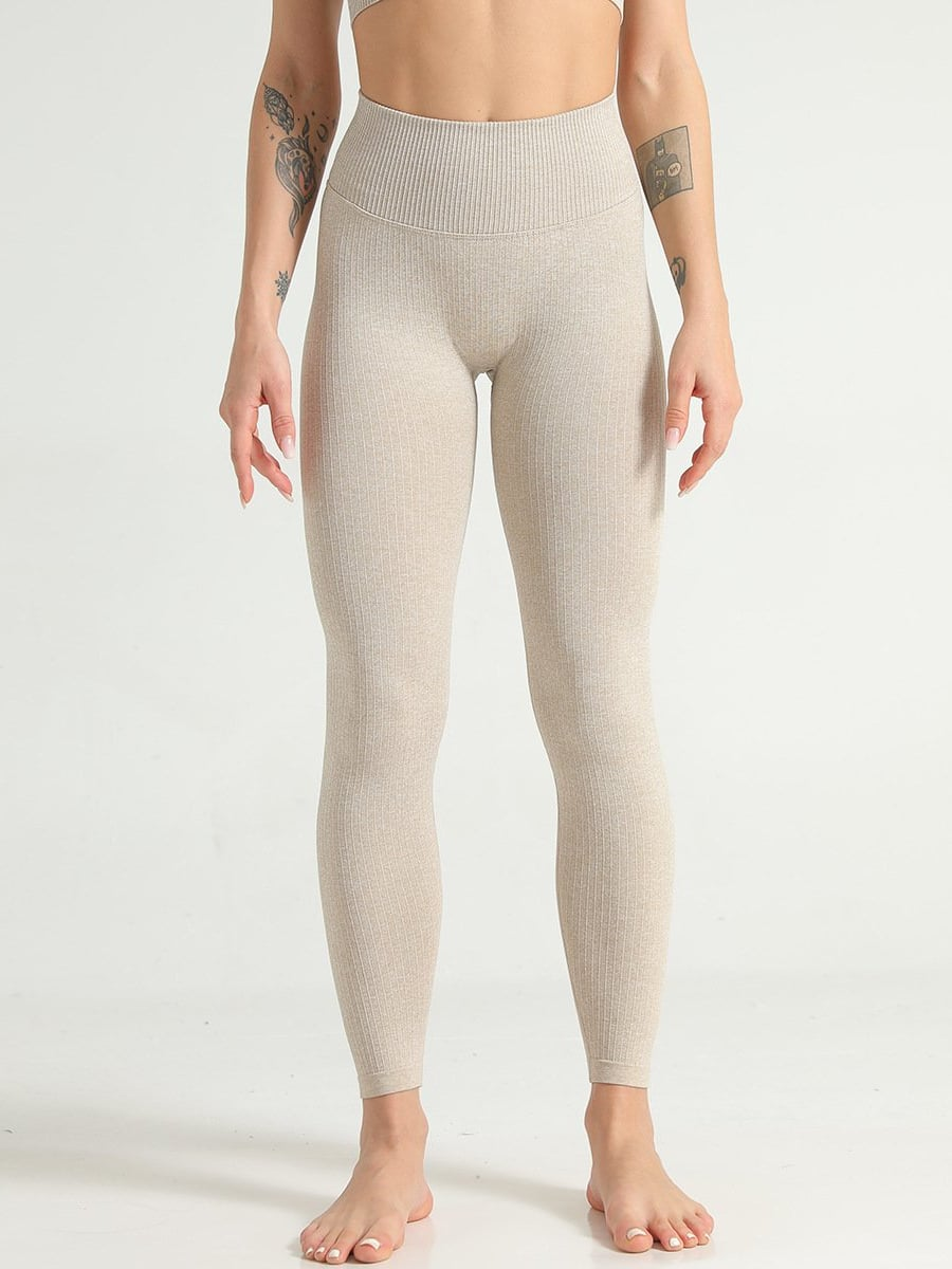 Focus Leggings - Tan / S - Leggings