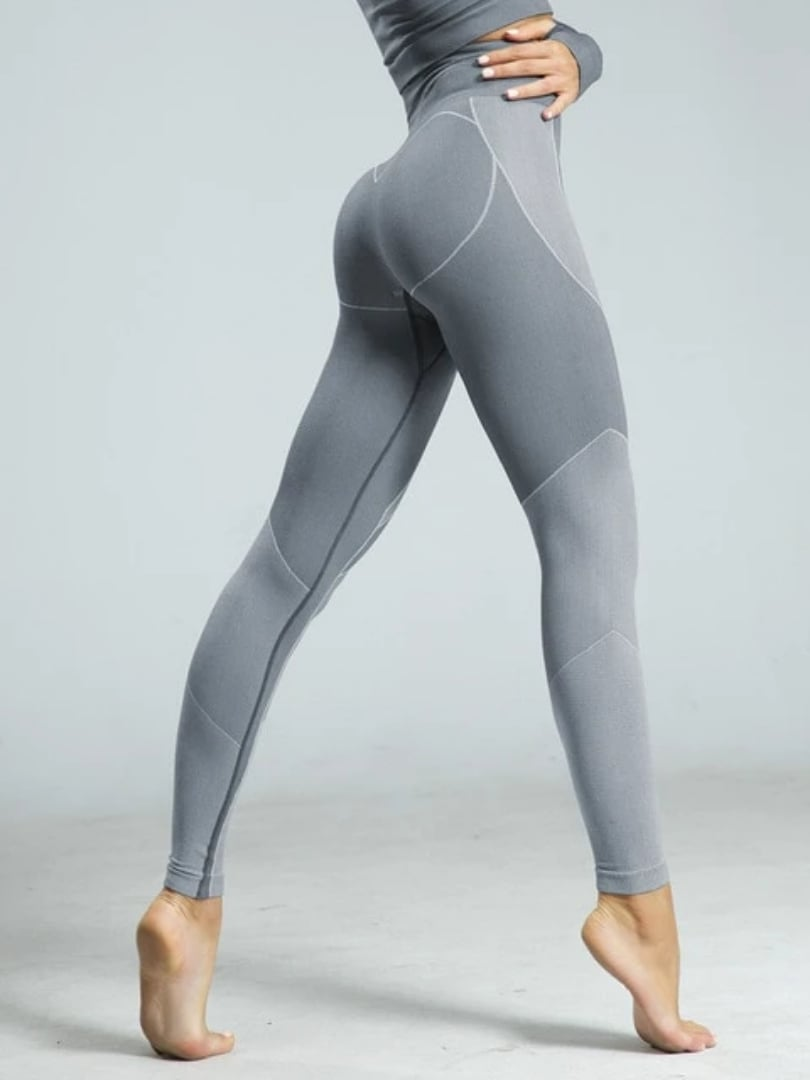 Warped Leggings - Grey / S - Leggings