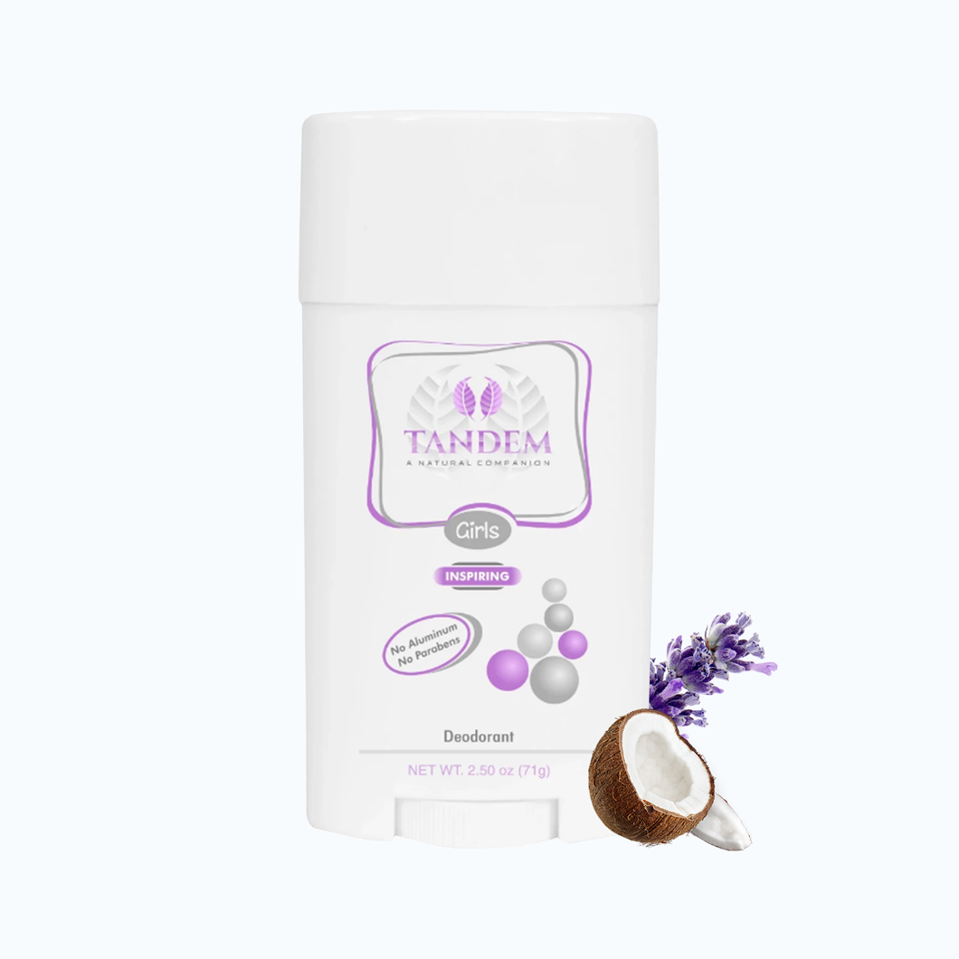 Inspiring Natural Deodorant for Girls : Tandem