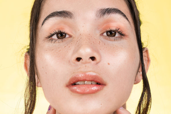 Woman with no under eye bags