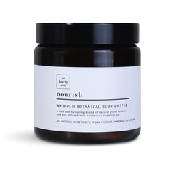 A rich and nourishing body butter with mango and shea butter, perfect for moisturising all skin types.