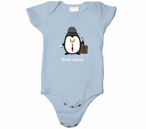 Penne the Penguin First Class Baby Onesies