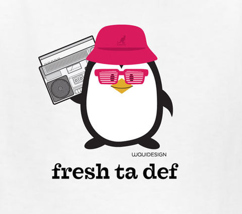 Penne the Penguin Fresh Ta Def Kids T-Shirts