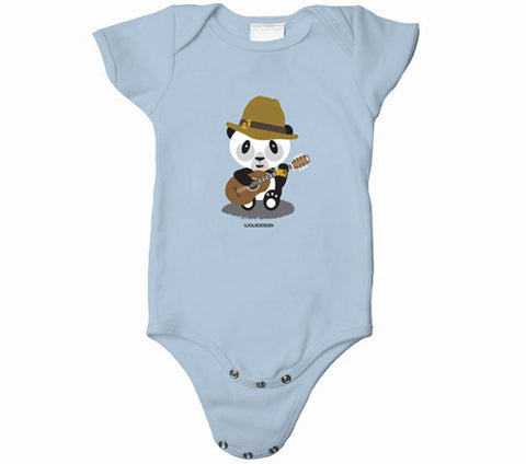 Liam the Panda Folk Band Baby Onesies