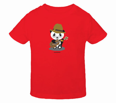 Liam the Panda Folk Band Toddler T-Shirts