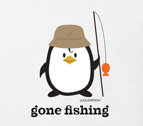 Penne the Penguin Gone Fishing Toddler T-Shirts