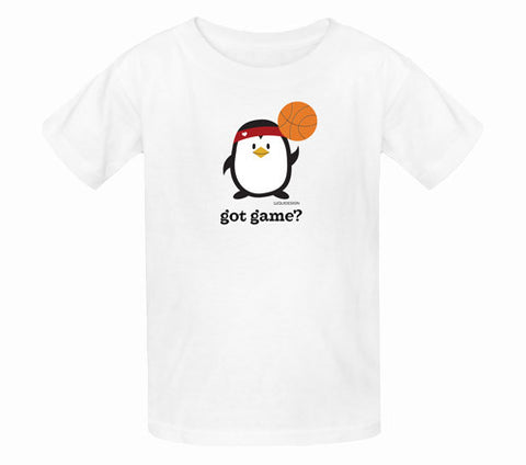 Penne the Penguin Got Game Kids T-Shirts